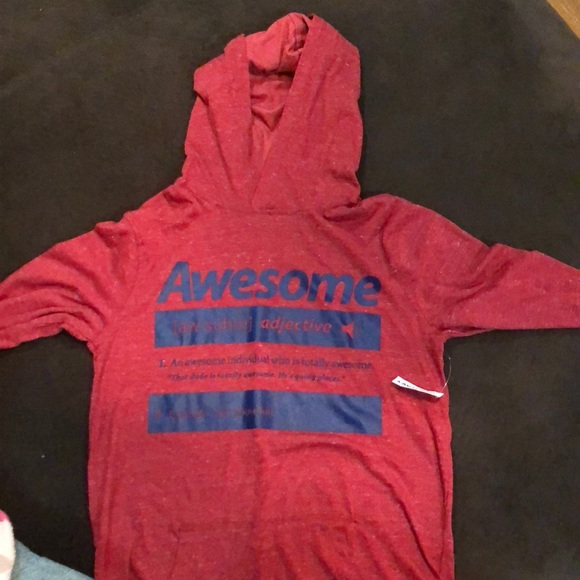 bb92f6e1 Old Navy Shirts & Tops | Boys Long Sleeve Graphic Tee With Hood ...